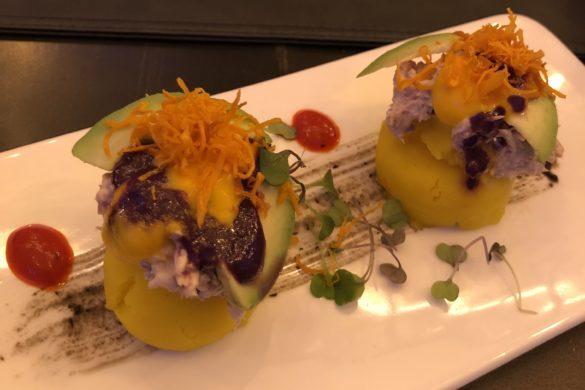 Causa Limeña de Patata con Atún y Aguacate Kechua Fusión