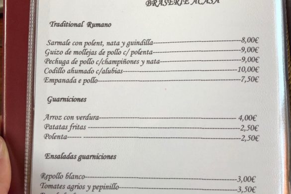 Carta Platos Restaurant Acasa