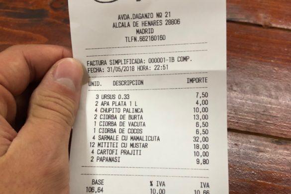 Ticket Restaurant Acasa