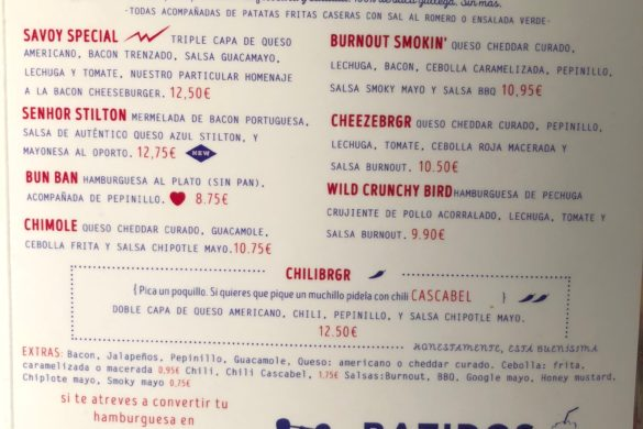 Carta Hamburguesas y Batidos Burnout Burgers