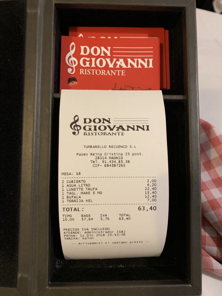 Ticket Cuenta Don Giovanni