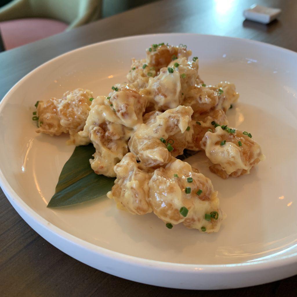 empura de Langostino Tigre con Spicy Mayo Umo Restaurante