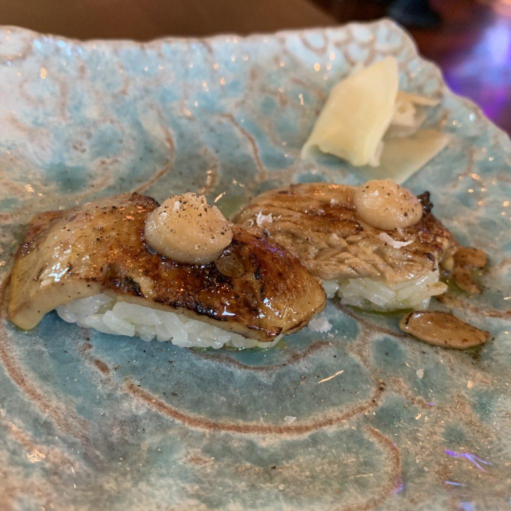 Nigiri de Foie y Manzana Umo Restaurante