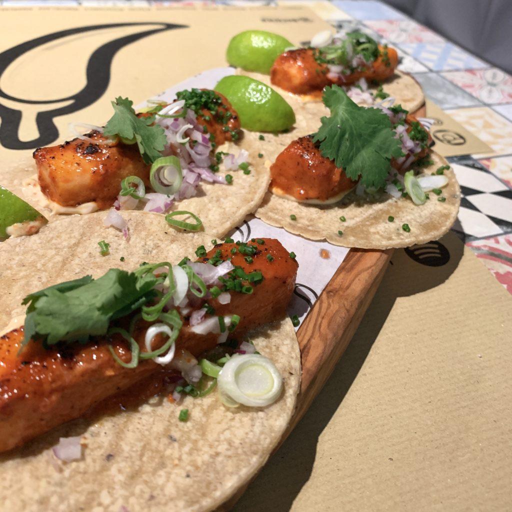 Tacos de Pez Mantequilla Mawey Taco Bar Gran Vía