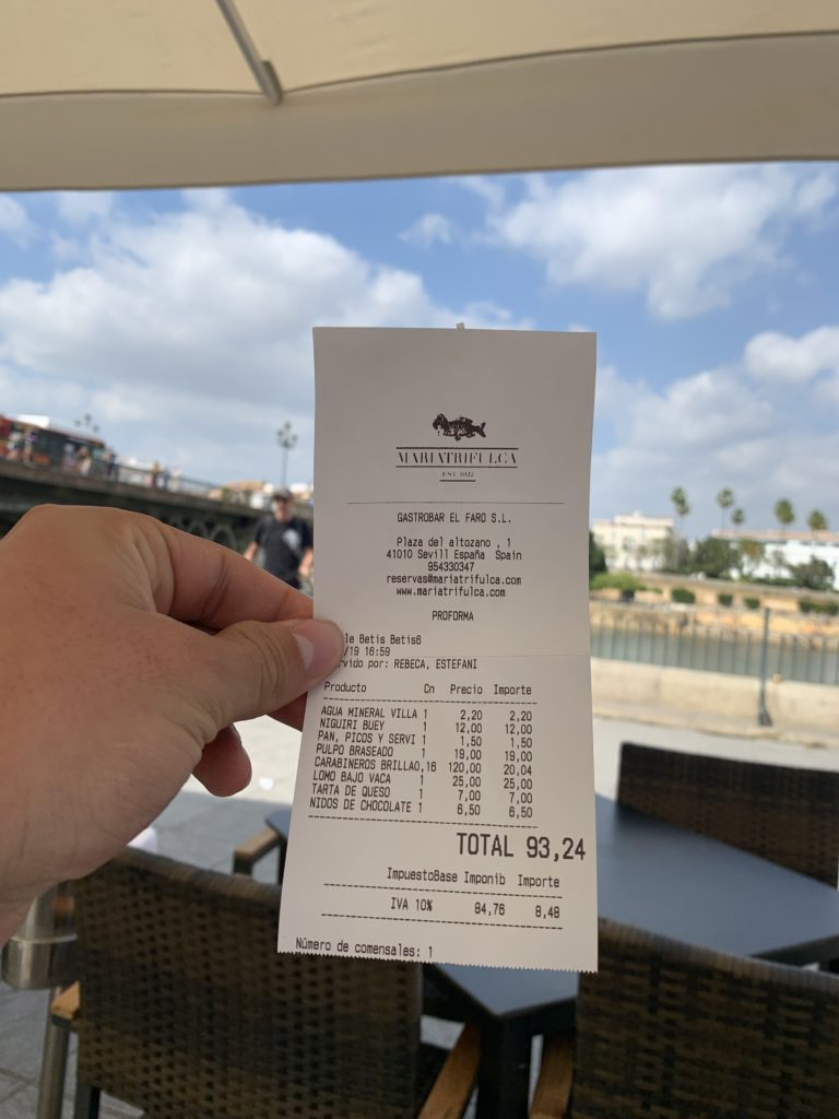 Ticket Cuenta Mariatrifulca Sevilla