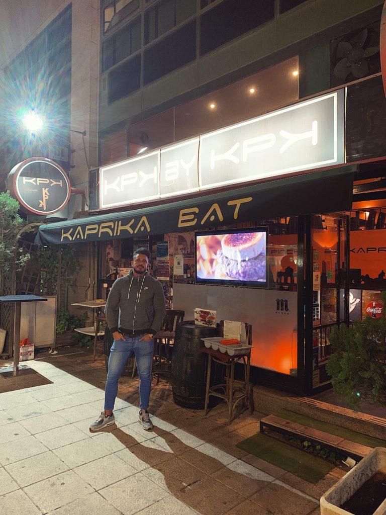 Pablo Cabezali en Restaurante Kaprika Pozuelo