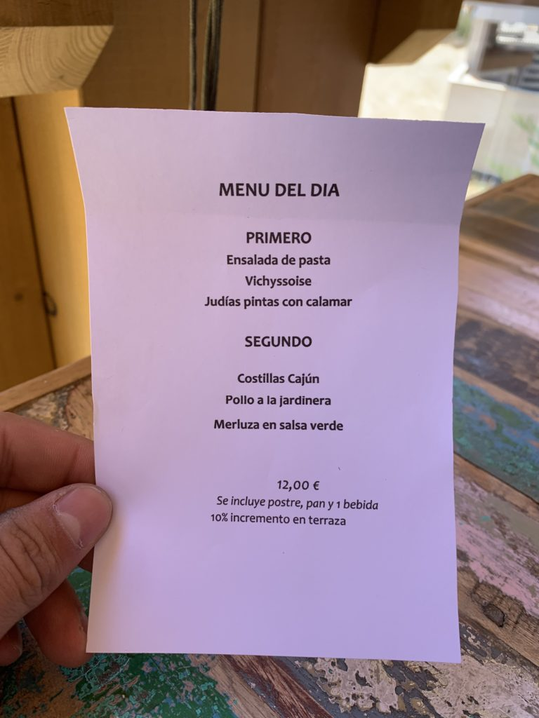 Menú del día Restaurante El Ochenta Majadahonda