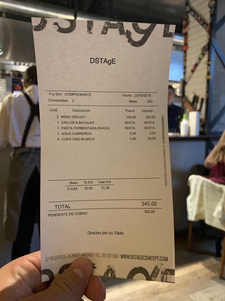 Ticket Cuenta DStage