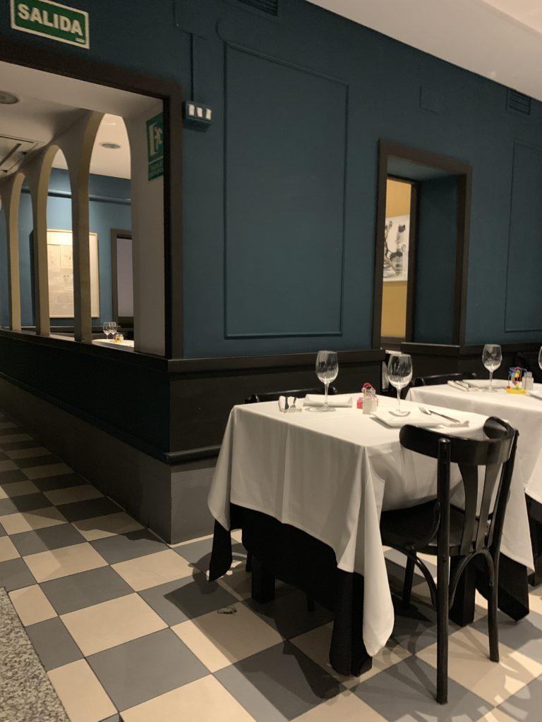 Interior Restaurante Tres Bocas