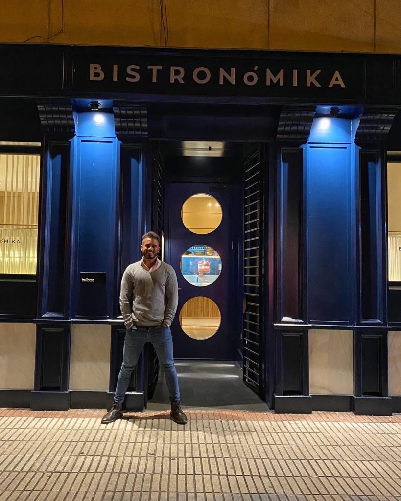 Cenando con Pablo en Restaurante Bistronomika