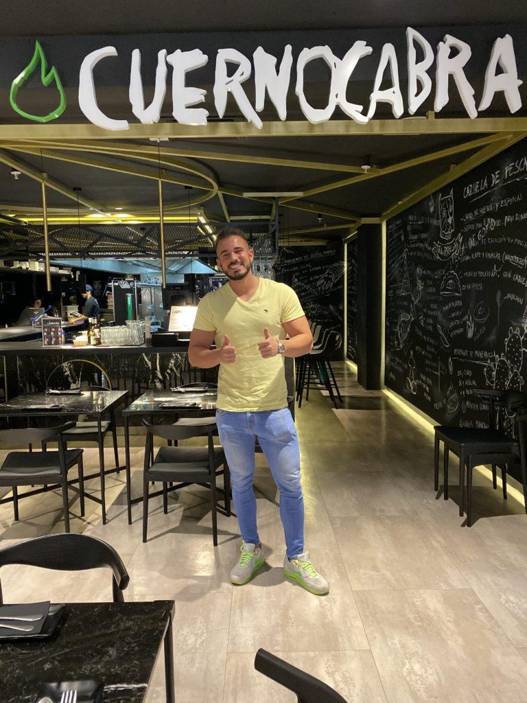 Cenando con Pablo en Restaurante Cuernocabra Las Palmas