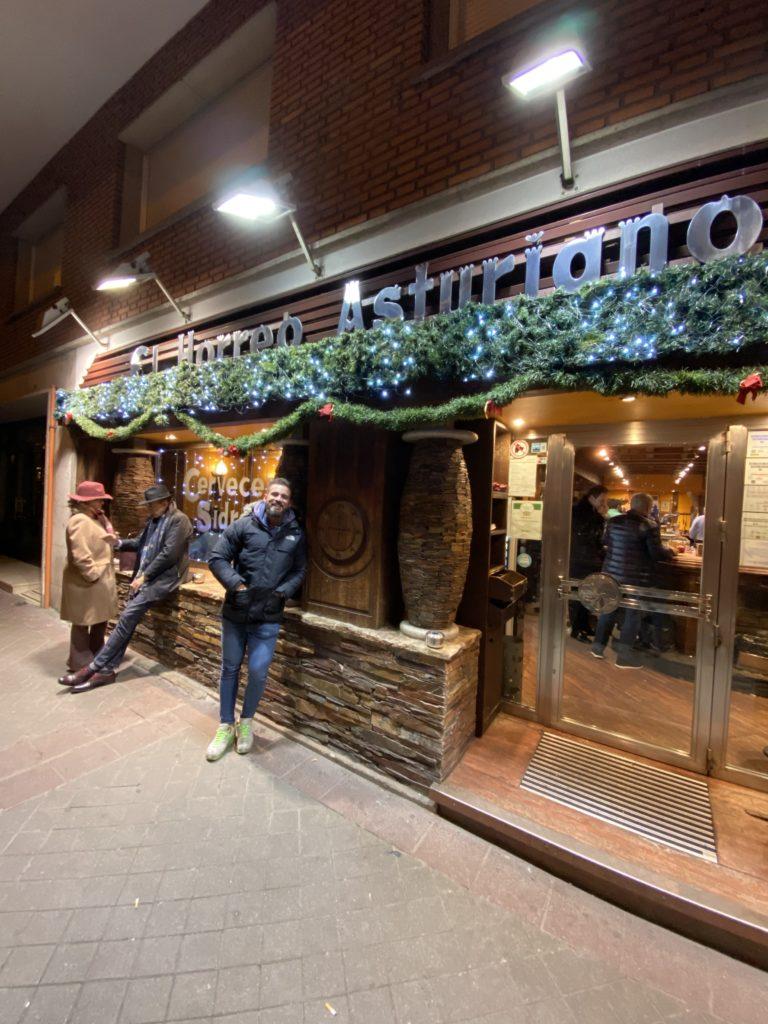 Cenando con Pablo en Restaurante El Horreo Asturiano