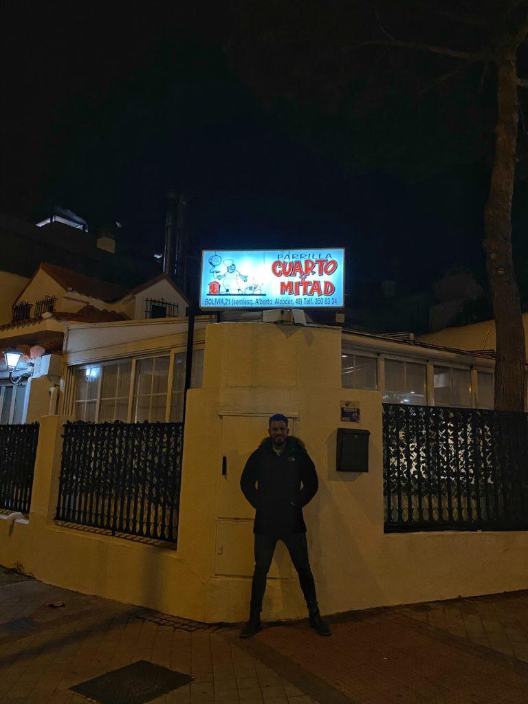 Cenando con Pablo en Restaurante Cuarto y Mitad