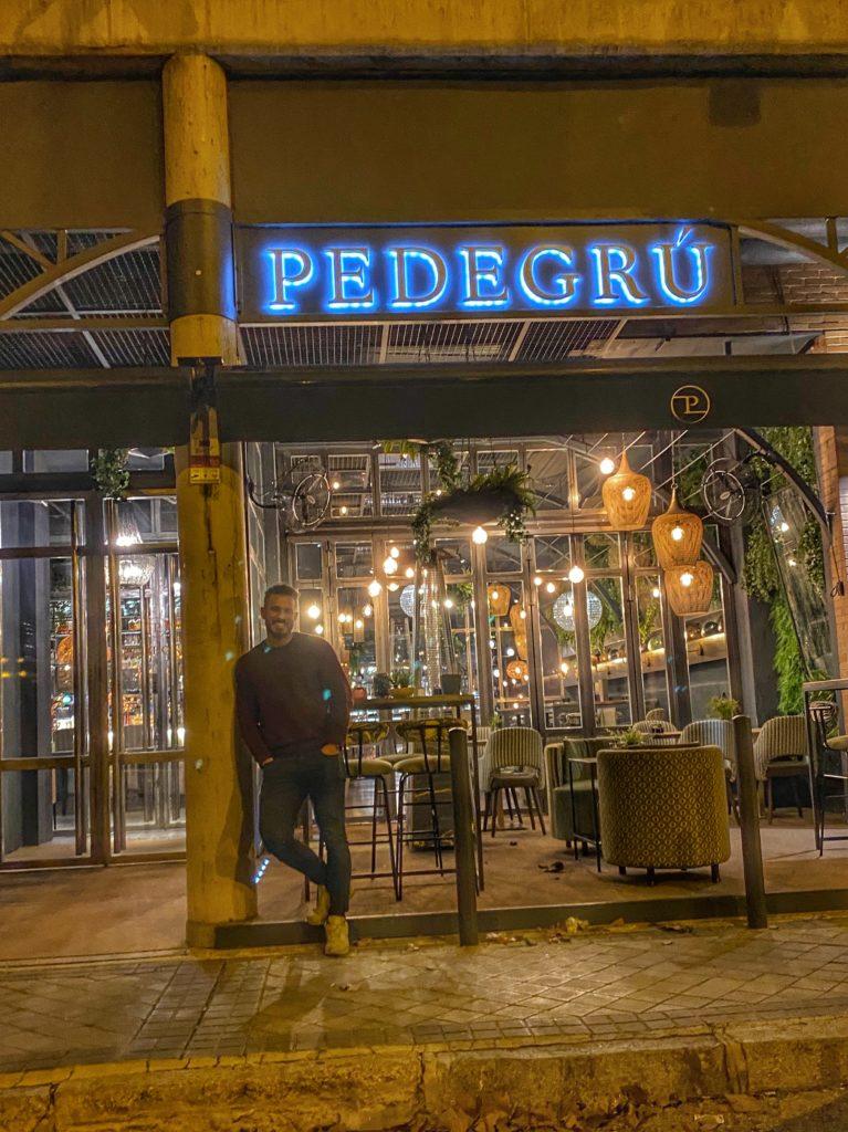 Cenando con Pablo en Restaurante Pedegrú
