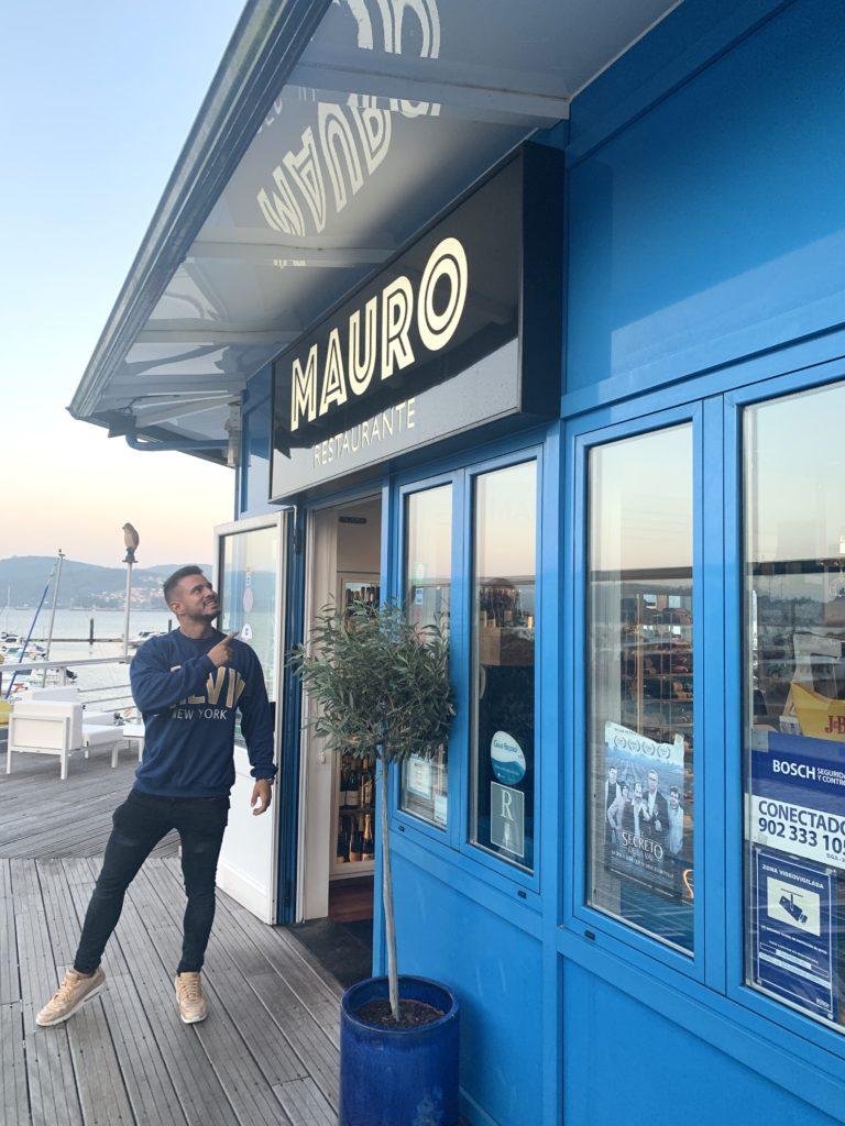 Cenando con Pablo en Restaurante Mauro Vilaboa