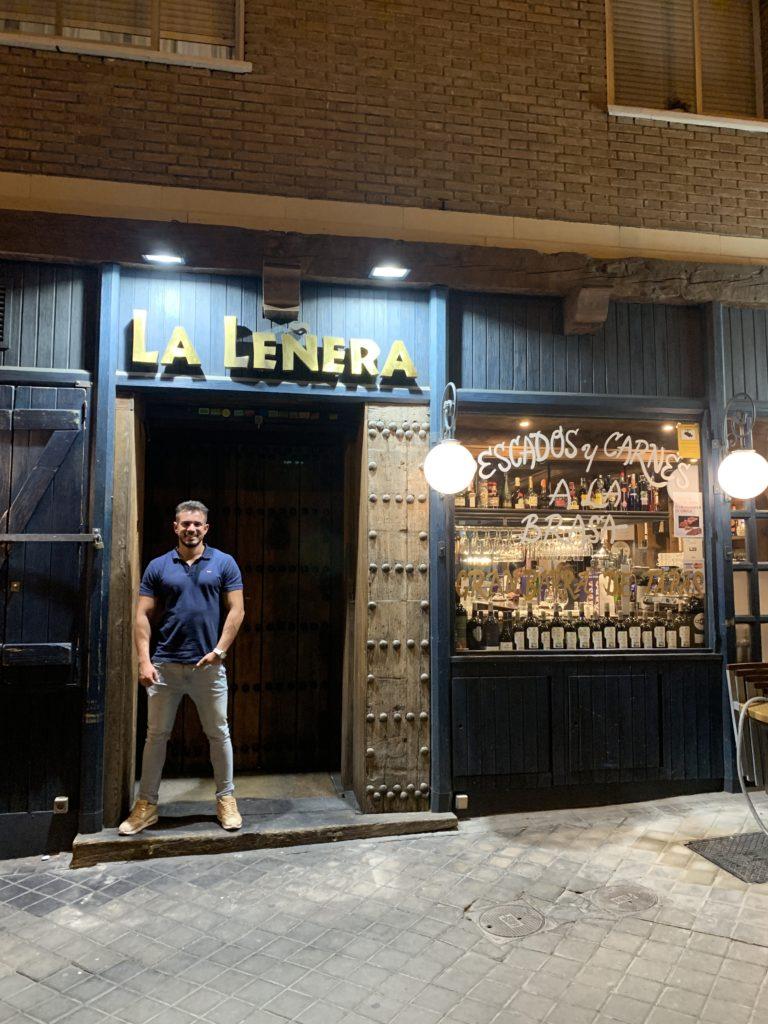 Cenando con Pablo en Restaurante La Leñera