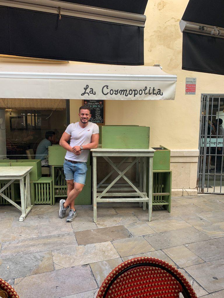 Cenando con Pablo en Restaurante La Cosmopólita Málaga