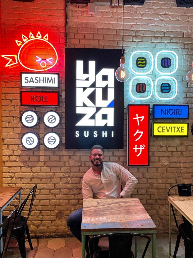 Cenando con Pablo en Sushi Yakuza